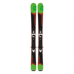 Rossignol Boy's Smash 7 Jr All Mountain Skis With Kid-X 4 Bindings '17