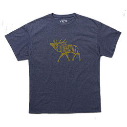YETI Men's Built For The Wild Bugling Elk Short Sleeve T Shirt