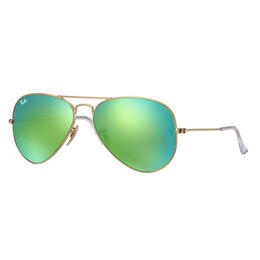 Ray-Ban Aviator Classic Sunglasses With Green Flash Lenses