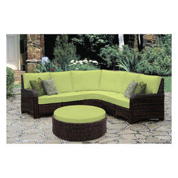 South Sea Rattan Saint Tropez 6-Piece Wicker Sectional