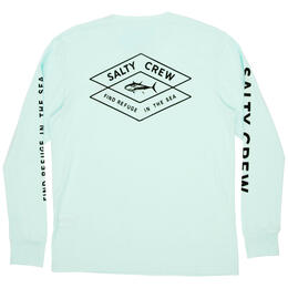 Salty Crew Men's Tiller Long Sleeve Tech Tee Shirt
