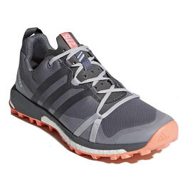 Adidas Women's Terrex Agravic Trail Running Shoes Grey/Coral