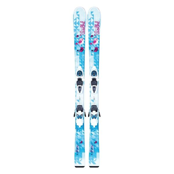Volkl Girl's Chica Jr All Mountain Skis with 3Motion 4.5 Bindings '14
