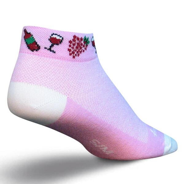 "Sock Guy Women's ""Vino Low Cut"" Cycling Socks"