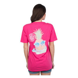 Lauren James Women's Preppy Pineapple T Shirt