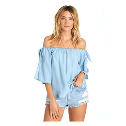 Billabong Women's Blues Baby Chambray Top
