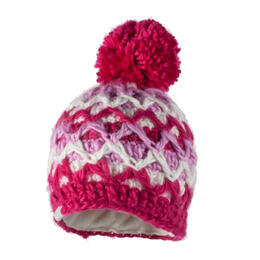 Obermeyer Girl's Averee Knit Beanie Pink/White