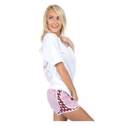 Texas Seersucker Lauren James Women's Texas Maroon Seersucker Shorts