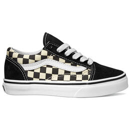 Vans Boy's Primary Check Old Skool Casual Shoes