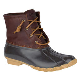 Sperry Women's Saltwater Core Rain Boots Dark Brown
