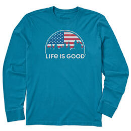 Life Is Good Men's American Landscape Long Sleeve Shirt