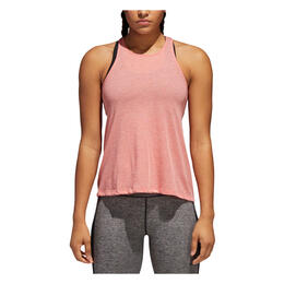 Adidas Women's Performance Open Back Tank Real Coral