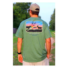 Burlebo Men's Sun Up To Sun Down T Shirt Heather Olive