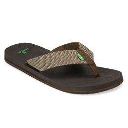 Sanuk Men's Yogi 4 Casual Sandals Brown Weave