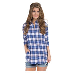 Lauren James Women's Boyfriend Flannel Long Sleeve Shirt