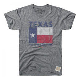 Original Retro Brand Men's Texas Flag Short Sleeve T Shirt