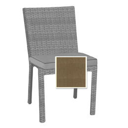 North Cape Cabo Dining Side Chair Cushion - Canvas Taupe W/ Linen Canvas Welt