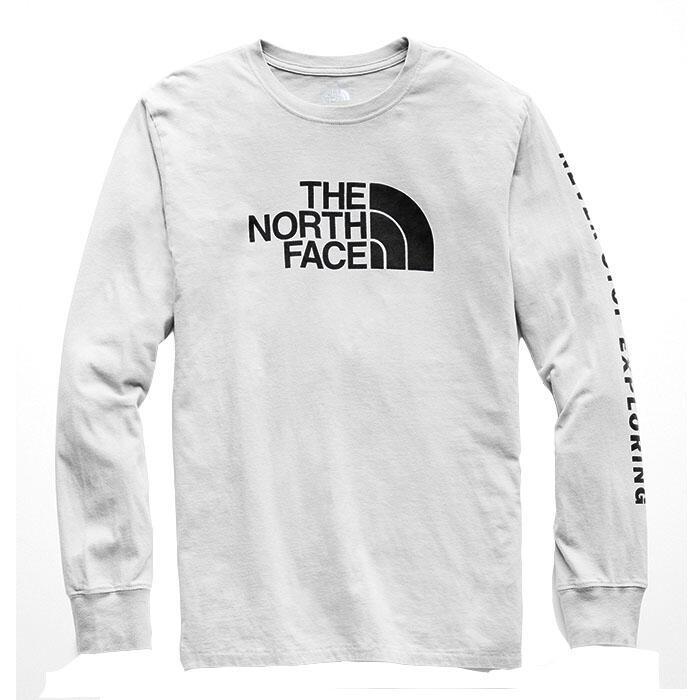 3dcf65289fb The North Face Men's Well-loved Half Dome Long Sleeve T-shirt - Sun ...