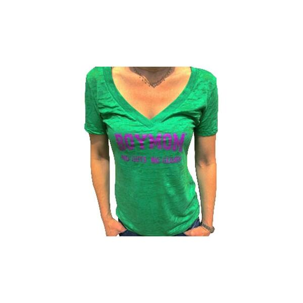 Boymom Women's No Guts No Glory Deep V Tee