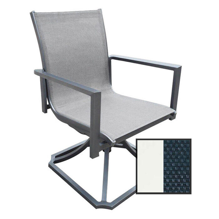 North Cape Rio True White Swivel Rocker
