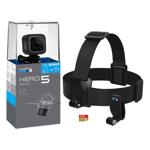 GoPro Hero5 Session Camera Bundle + SD Card