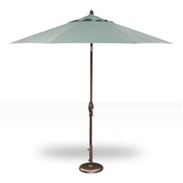 Treasure Garden 9' Push Button Tilt Umbrella - Bronze with Spa