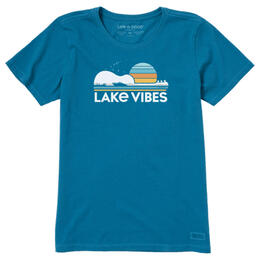 Life Is Good Women's Guitar Lake Vibes Crusher T-Shirt