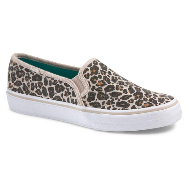 Keds Women's Double Decker Leopard Wool Casual Shoes