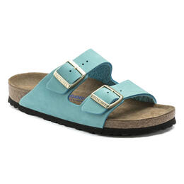 Birkenstock Women's Arizona Nubuck Leather Casual Sandals - Narrow