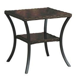 Libby Langdon Dunemere Collection Glass Top End Table
