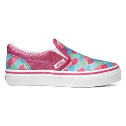 Vans Girl's Mermaid Scales Classic Slip On Casual Shoes
