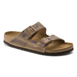 Birkenstock Men's Arizona Oiled Leather Casual Sandals Tobacco Brown