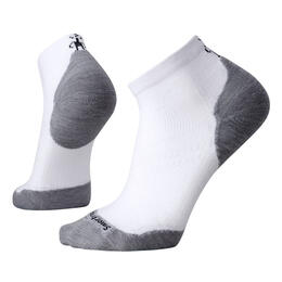 Smartwool Men's PhD Run Light Elite Low Cut Socks White/Light Grey