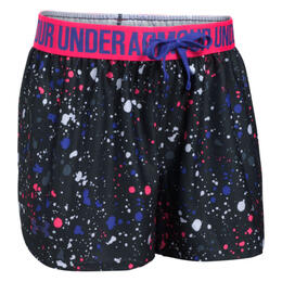 Under Armour Girl's Printed Play Up Splatter Shorts