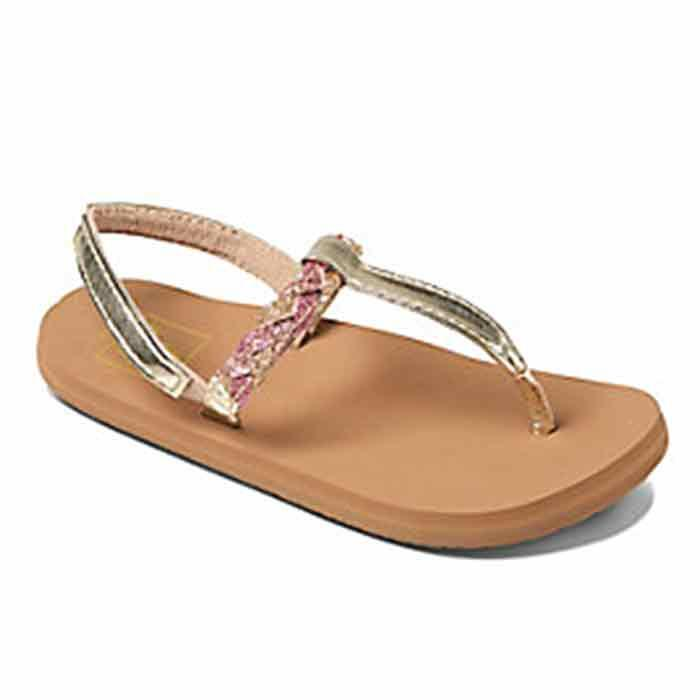 Reef Girl's Little Twisted T Sandals