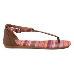 Toms Women's Playa Leather Woven Casual Sandals