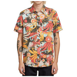 Volcom Men's Psych Floral Short Sleeve Button Up Shirt