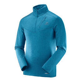 Salomon Men's Discovery Half Zip Top, Moroccan Blue