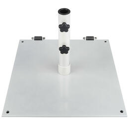 Frankford 75 lb. Steel Square Base Plate with Wheels