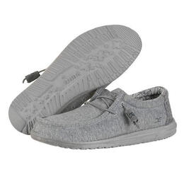 Hey Dude Men's Wally Stretch Casual Shoes Grey Fleece