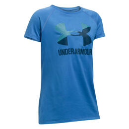 Under Armour Girl's UA Solid Big Logo T Shirt