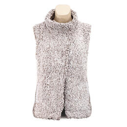 Dylan by True Grit Women's Frosty Tipped Pile Cozy Vest