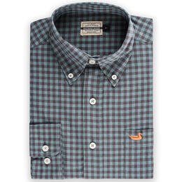 Southern Marsh Men's Summer Washed Gingham Shirt