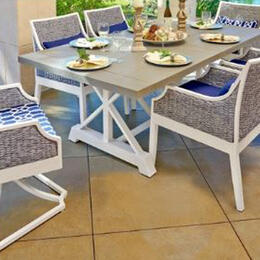 Libby Langdon Mooring Nantucket Wicker 7-Piece Dining Set