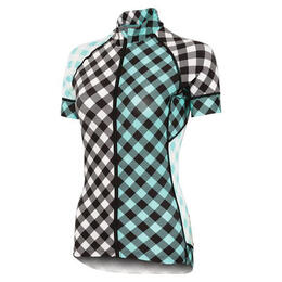 Shebeest Women's Divine Gingham Cycling Jersey