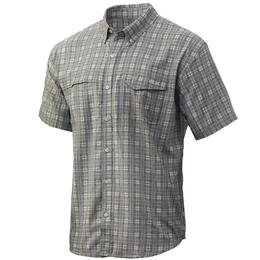 Huk Men's Tide Point Plaid Short Sleeve Fishing Shirt