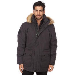 Avalanche Men's Faux-Fur Hooded Parka