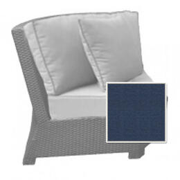 North Cape Cabo 45 Degree Sectional Corner Chair Cushion - Indigo W/ Dove Welt