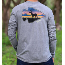 Burlebo Men's Arrowhead Deer Long Sleeve T-Shirt