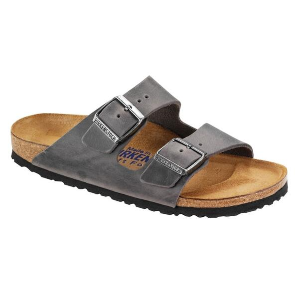 Birkenstock Men's Arizona Soft Footbed Oiled Leather Casual Sandals